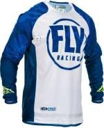 Джерси FLY Racing Evolution DST размер: М синяя/белая (2020)