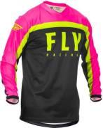 Джерси FLY Racing F-16 размер: L розовая/чёрная/Hi-Vis жёлтая (2020)