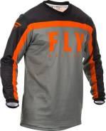 Джерси FLY Racing F-16 размер: М серая/чёрная/оранжевая (2020)