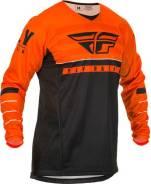Джерси FLY Racing Kinetic K120 размер: М оранжевая/чёрная/белая (2020)