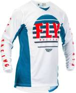 Джерси FLY Racing Kinetic K220 размер: L синяя/белая/красная (2020)