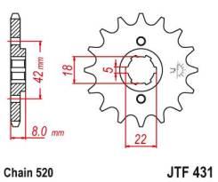 Звезда передняя (ведущая) JTF431.13