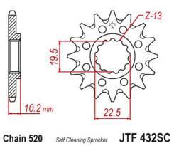Звезда передняя (ведущая) JTF432.14SC