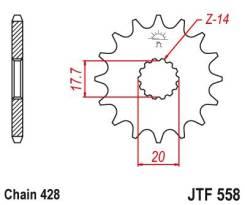 Звезда передняя (ведущая) JTF558.15
