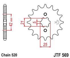 Звезда передняя (ведущая) JTF569.15