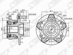 Ступица. Suzuki Escudo, TA74W, TD54W, TD94W Suzuki Kizashi, RE91A, RE91S, RE9A1, RE9A3, RE9A5, RE9A6, RE9A7, RE9A8, RF91S, RF9A1, RF9A3, RF9A5, RF9A6...