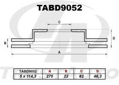 Диск тормозной T. Auris NZE151H, NZE154H, NZE181H, NZE184H, ZRE152