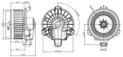 SAT ST8710348080 Мотор отопителя салона Toyota Camry V40/V50 /HIGH