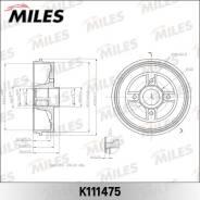 Барабан тормозной RENAULT LOGAN/CLIO/MEGANE (d203mm) (TRW DB4214) K111475 miles K111475 в наличии