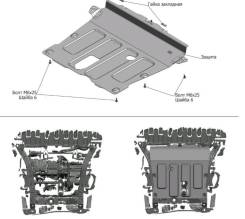 Защита картера Renault Kaptur / Duster / Arkana / Terrano 10