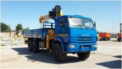 КМУ КАМАЗ 43118-3027-50 (Евро-5) + SOOSAN SCS746L верх.упр.+борт сталь 6.2м. (со спалкой), 2019