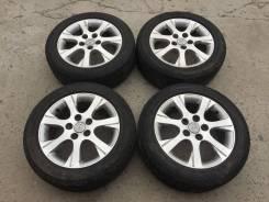 """Комплект колес Toyota R16 5*114.3 Bridgestone Playz 205/55/16. 6.5x16"""" 5x114.30 ET50 ЦО 60,1мм."""