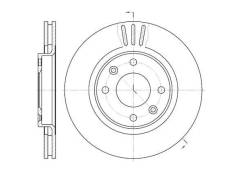 Диск тормозной передний Citroen C-Elysee/C3/C4; Peugeot 206/207/307