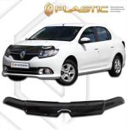 Дефлектор капота Renault Logan, Sandero 2014 (Мухобойка)