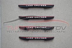 Защита двери (накладки) силикон черные Land Cruiser