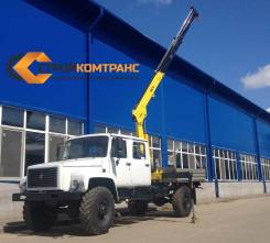 ГАЗ 3308 Садко. Бортовая платформа с КМУ HYVA HB60E2 ГАЗ-33088 Садко 4+1 мест, 4 430куб. см., 5 000кг., 4x4