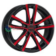Диск 8x18/5x108 ET45 D72 Milano Black Red Face MAK