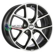 Диск 7,5x17/5x108 ET45 D70 SR Vulcano grey diamond cut BBS