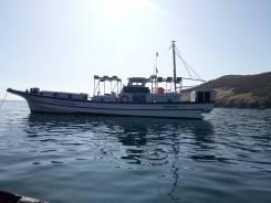 Катер 19 метров. Набор групп на рыбалку. Туризм. Услуги водолаза.