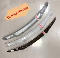 Дефлектор капота Toyota Corona Premio T210 (Шелкография белая) 4
