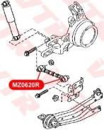 Сайлентблок поперечного рычага задней подвески (регулируемого) Mazda6   Atenza VTR, левый/правый