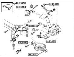 Сайлентблок поперечного рычага задней подвески (кривого) Mazda6   Atenza JIKIU