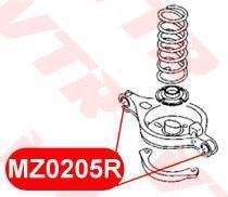 Сайлентблок поперечного рычага задней подвески (чаша) Mazda6   Atenza VTR, левый/правый