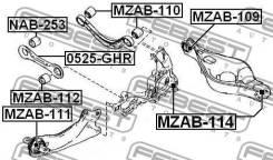 Сайлентблок поперечного рычага задней подвески (кривого) Mazda6   Atenza FEBEST