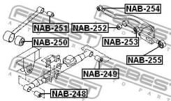 Сайлентблок поперечного рычага задней подвески (прямого) наружный Mazda6   Atenza FEBEST