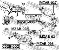 Сайлентблок продольного рычага задней подвески Mazda6   Atenza FEBEST