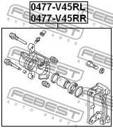 Суппорт тормозной зад лев Febest 0477V45RL