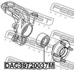 Подшипник ступицы колеса | перед прав/лев | Febest DAC39720037M