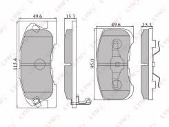 Колодки тормозные дисковые передние LYNXauto BD2401