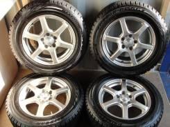 """Хороший комплект литья с зимними шинами 215/60R16 Япония (№138). 6.5x16"""" 5x114.30 ET42 ЦО 78,0мм."""