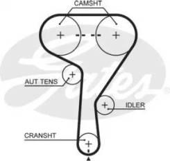 Ремень грм. Chevrolet: Lacetti, Trax, Vectra, Astra, Corsa, Nubira, Cruze, Aveo, Orlando, Tracker Alfa Romeo Brera Alfa Romeo 159, 939 Alfa Romeo Spid...