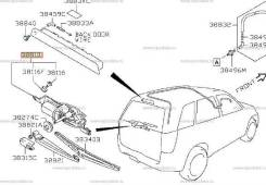 Мотор стеклоочистителя. Suzuki Escudo, TA74W, TD54W, TD94W Suzuki Grand Vitara, TA04V, TA0D1, TA44V, TA74V, TA7D1, TAA4V, TD041, TD042, TD044, TD047...