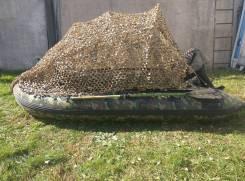 Лодка надувная охотничья. 2015 год, длина 3,20м., двигатель подвесной, 15,00л.с., бензин