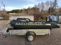 Продам комплект лодка ПВХ Stingray 360 AL+ лодочный мотор Tohatsu 18