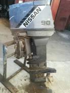 Nissan Marine. 90,00л.с., 2-тактный, бензиновый, нога X (635 мм), 1998 год