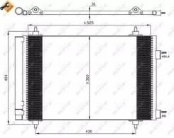 Радиатор кондиционера!\ Citroen C4, Peugeot 307 1.4-2.0 03 NRF 35611_ NRF 35611