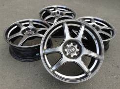 "Black Racing. 7.0x17"", 4x100.00, 4x114.30, ET42"