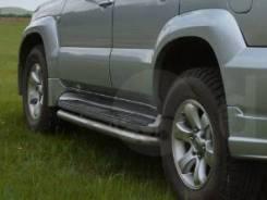 Накладка на порог. Toyota Land Cruiser Prado, GRJ120, GRJ120W, KDJ120, KDJ120W, KZJ120, LJ120, RZJ120, RZJ120W, TRJ120, TRJ120W, VZJ120, VZJ120W
