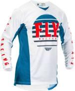 Джерси FLY Racing Kinetic K220 размер: S синяя/белая/красная (2020)