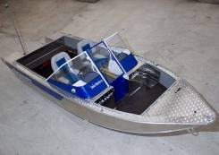 "Катер ""Салют-480 M PRO"" доп. компл. +Мотор лодочный Mercury ME-60 Elpto"