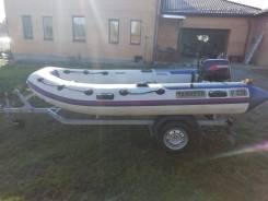 Продаю надувную лодку с мотором и прицепом
