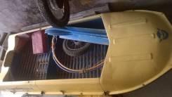 Лодка алюминиевая двух местная с мотором, прицепным устройством