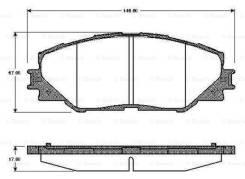 Колодки передние Rav 4 06- (В наличии)