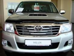 Toyota Hilux 2011 - 2015 SIM Дефлектор капота (Мухобойка)