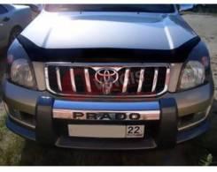Дефлектор капота. Toyota Land Cruiser Prado, GRJ120, GRJ120W, GRJ121W, GRJ125W, KDJ120, KDJ120W, KDJ121W, KDJ125W, LJ120, RZJ120W, RZJ125W, TRJ120, TR...