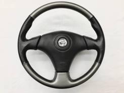 Оригинальный спортивный руль черная/серая кожа Toyota